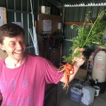 Photo of a member with a mutant carrot.