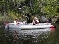Outdoor Education class canoes on Noosa River