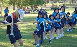 Students in Primary curricular sport program