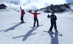 Students snow skiing in year level camps program