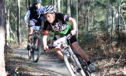 Student mountain biking