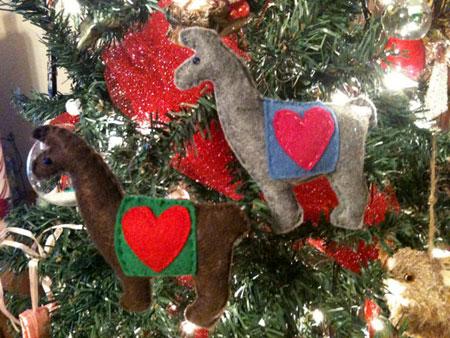 Etsy Item Of The Day Lovable Llama Ornament Elf Blog