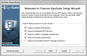 Franson GPS Gate Menu