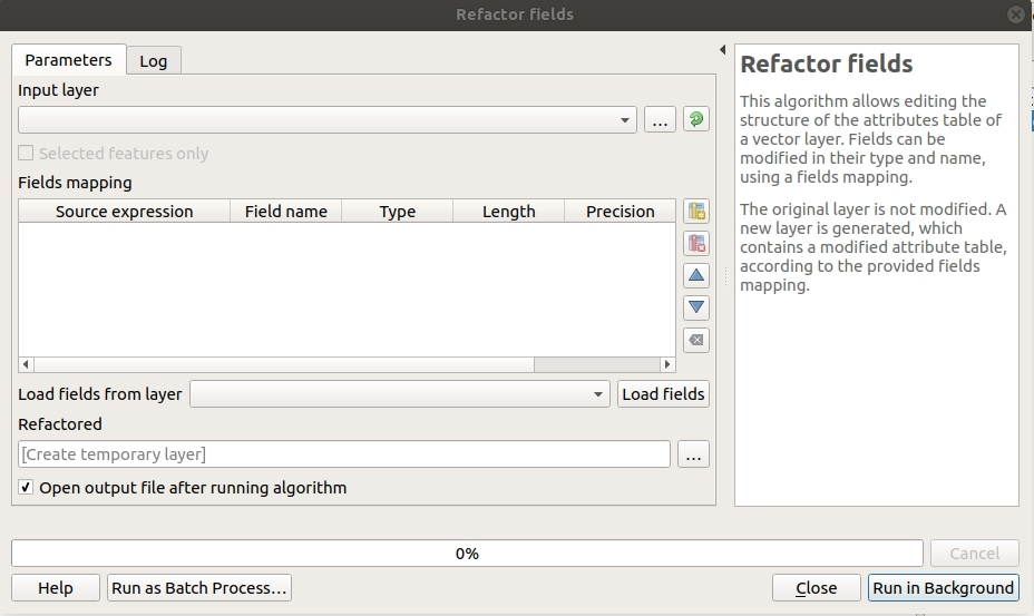 I didn't know it was called Refactor Fields in QGIS • North