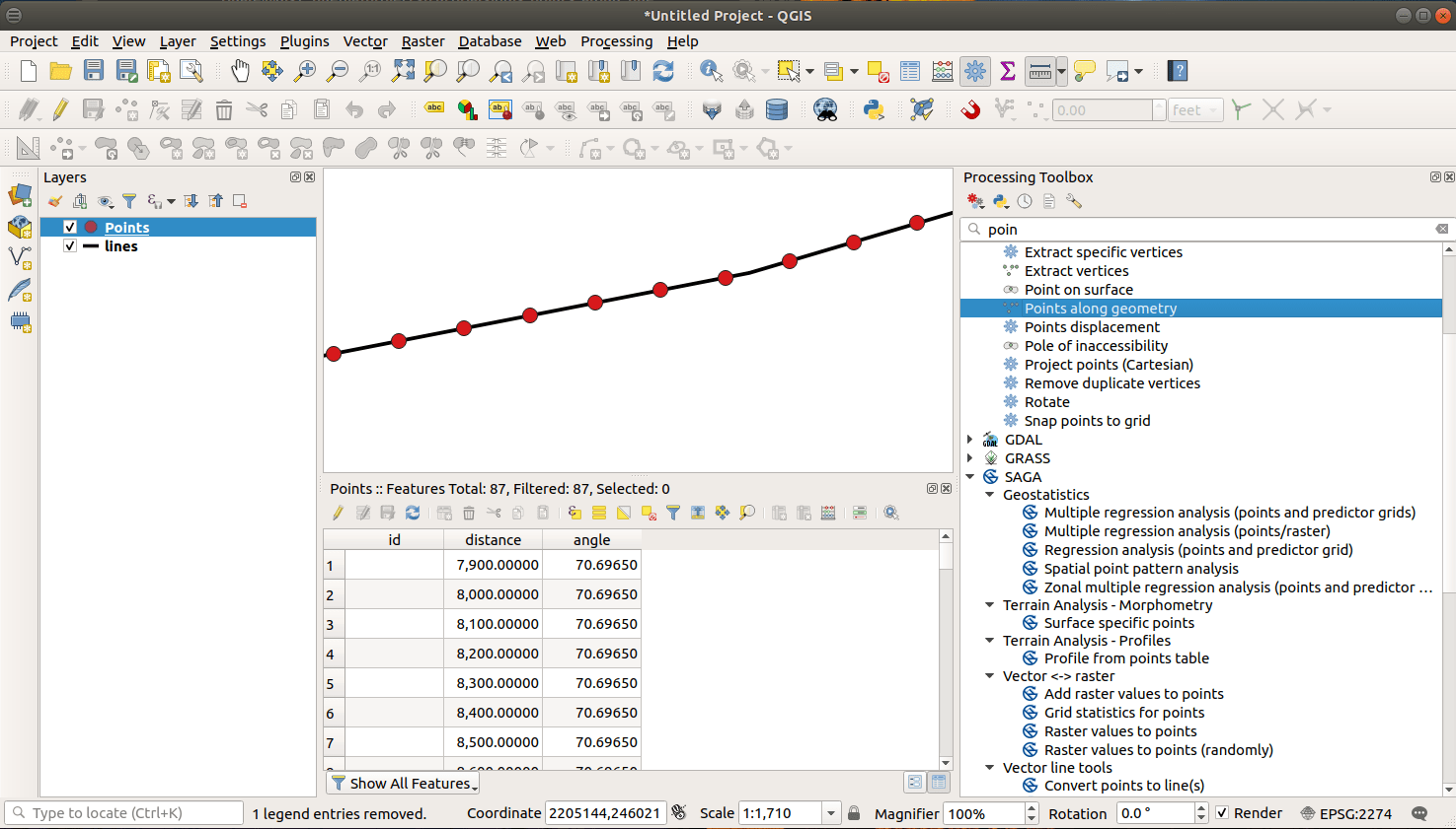 QGIS with point Data
