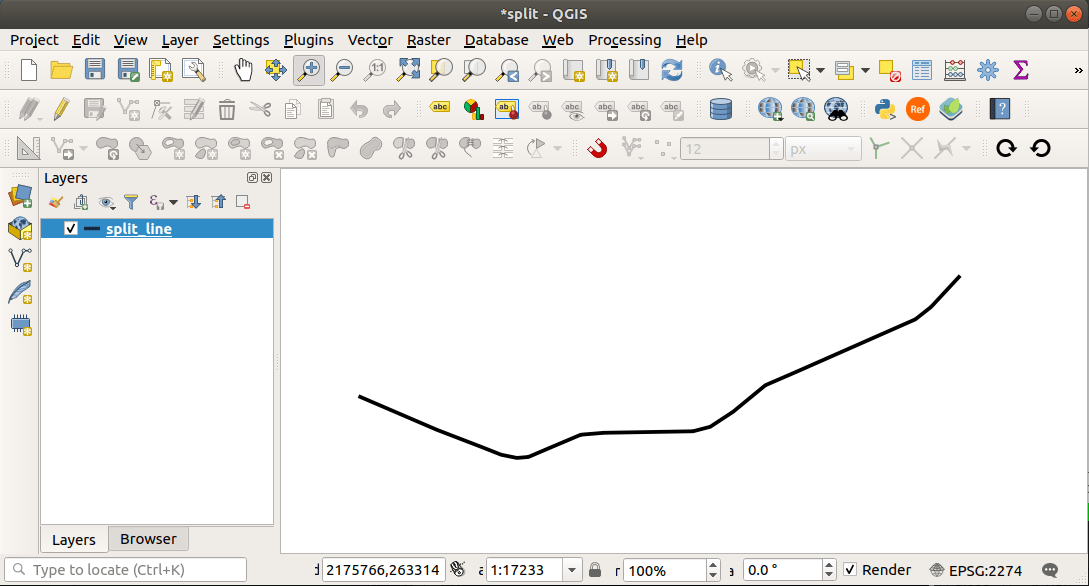 QGIS: Split a line at an Interval • North River Geographic Systems Inc