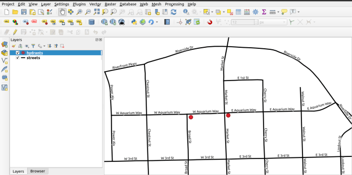 QGIS Project Screen