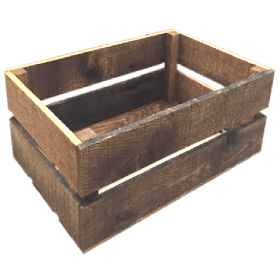 Wooden crates north rustic design for Uses for old wooden crates