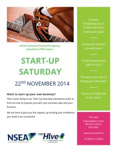 Image of poster fro start up staurday