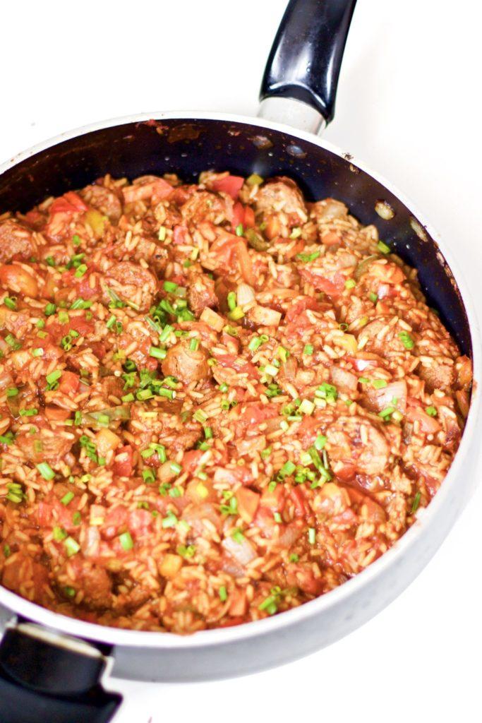 Homemade Spicy Sausage Jambalaya (Easy, Gluten-Free)