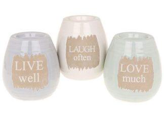 Chalk words tealight holder - round