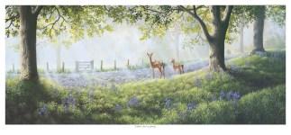 Fallow Deer in Spring Original Painting