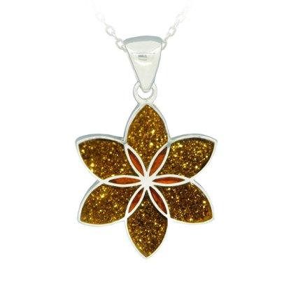 Lily Pendant - Gold Glitter