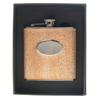 Hip Flask Wooden 6oz