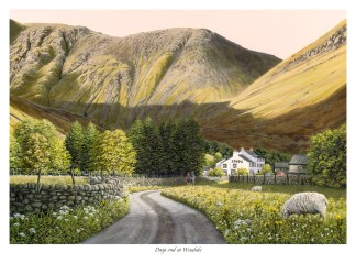 Days End at Wasdale Original Oil Painting
