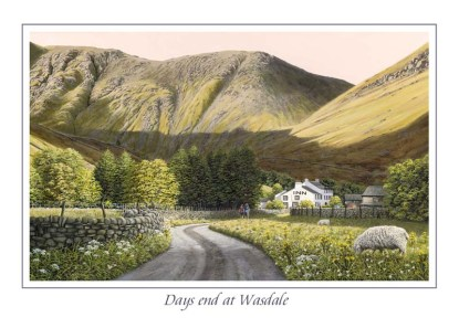 Days End at Wasdale Greeting Card