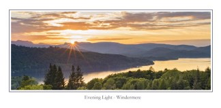 Evening Light Windermere Greeting Card