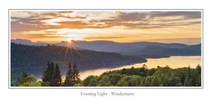 Evening Light Windermere Greeting Card