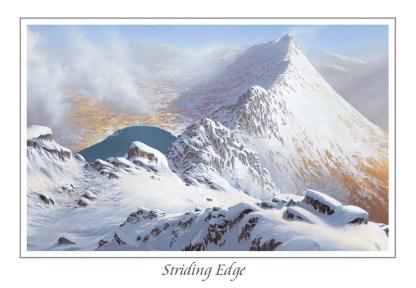 Striding Edge Greeting Card