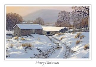 Winters Glow Christmas Card