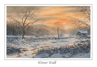 Winters Walk Greeting Card