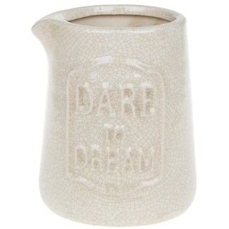 Dare to Dream Cream Vase Small