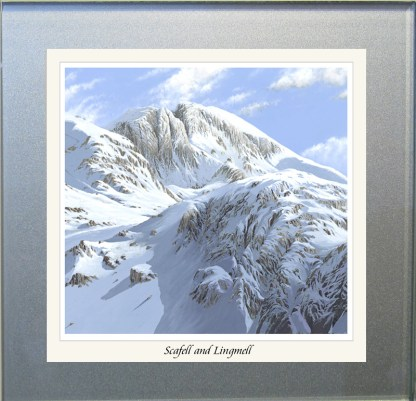 Scafell and Lingmell Glass Coaster