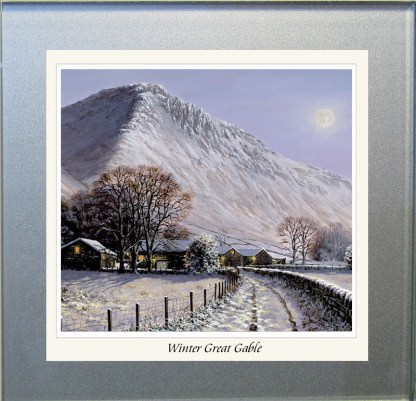 Winter Great Gable Glass Coaster