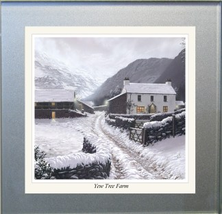 Yew Tree Farm Snow Glass Coaster