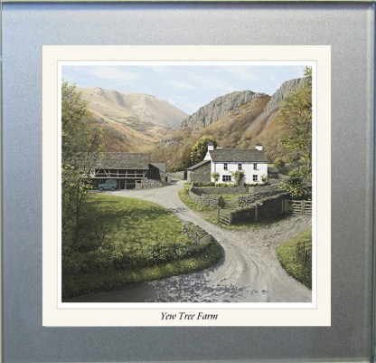 Yew Tree Farm Summer Glass Coaster