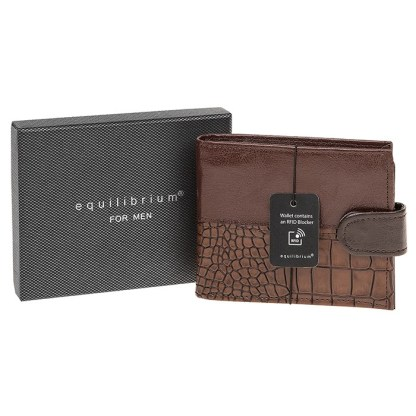 Men RFID Modern Wallet Brown