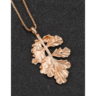 Leaf Pendant Rose Gold Plated