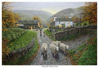 Early start at Yew Tree Farm First Edition Print