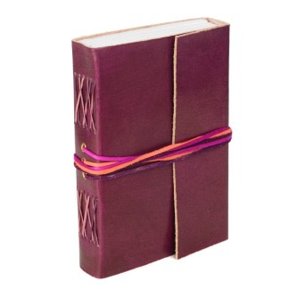 3 string Leather Journal - Plum