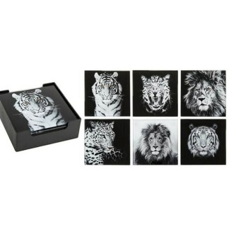 Big Cats Coaster Set