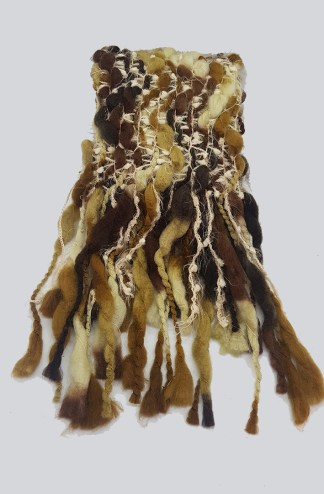 Heavy Knitted Scarf Brown