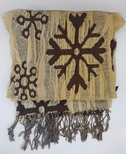 Snowflakes Reversible Thick Scarf