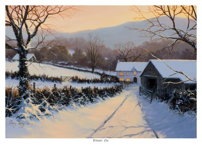 A Winters Eve Lake District Picture
