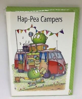 Hap-Pea Campers Greeting Card