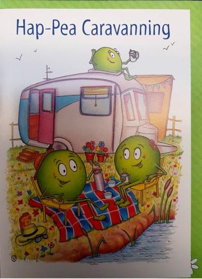 Hap-pea Caravanning Greeting Card