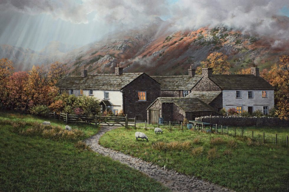High Park Farm little Langdale Original Oil Painting
