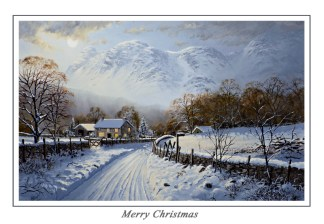 Langdale Moonlight Christmas Card