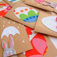 How to make Easter Cards with fabric scraps