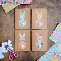 DIY Easter Cards made with Vintage print Cardstock