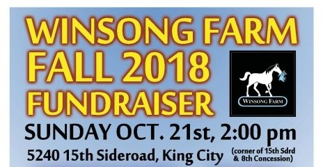 Winsong Farm Fall 2018 Fundraiser