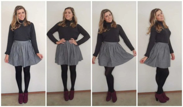 dress up your turtleneck with a flirty skirt - How to Wear a Turtleneck