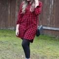 Madewell buffalo plaid shirtdress - winter casual outfit