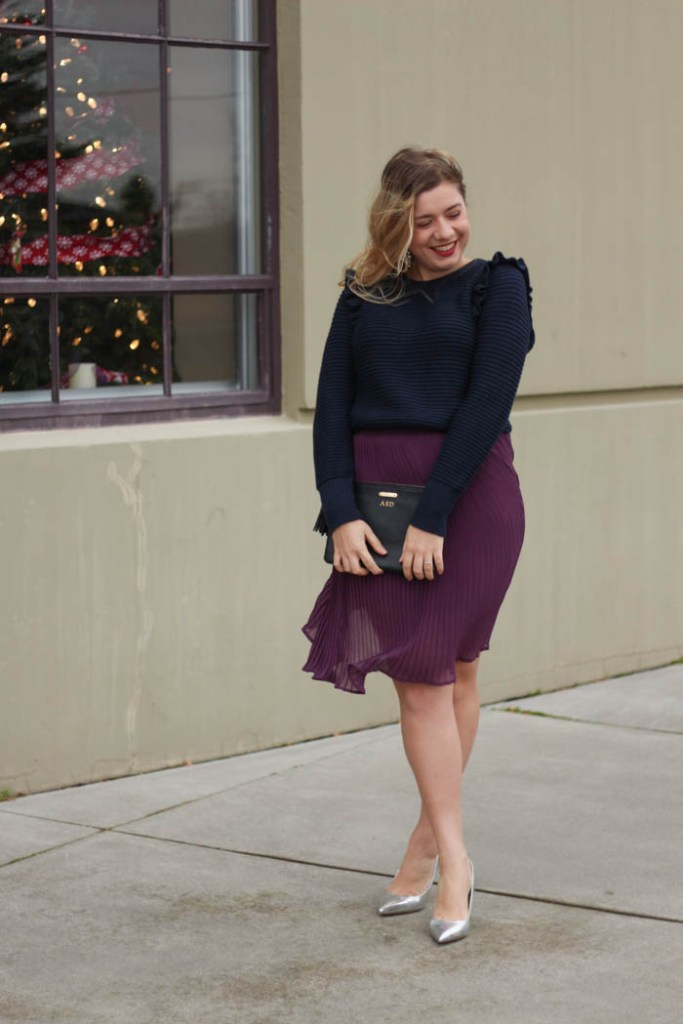 holiday glam style without being too cold
