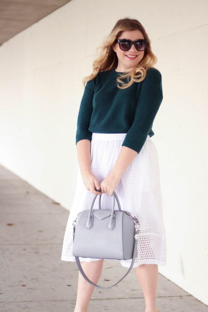 jcrew eyelet skirt - christian louboutin pigelle - spring style-1
