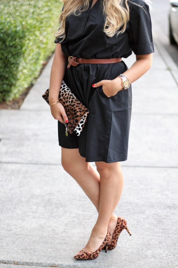 J.Jill LBD - desk to date night - affordable leopard print heels